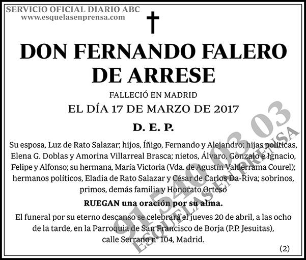 Fernando Falero de Arrese
